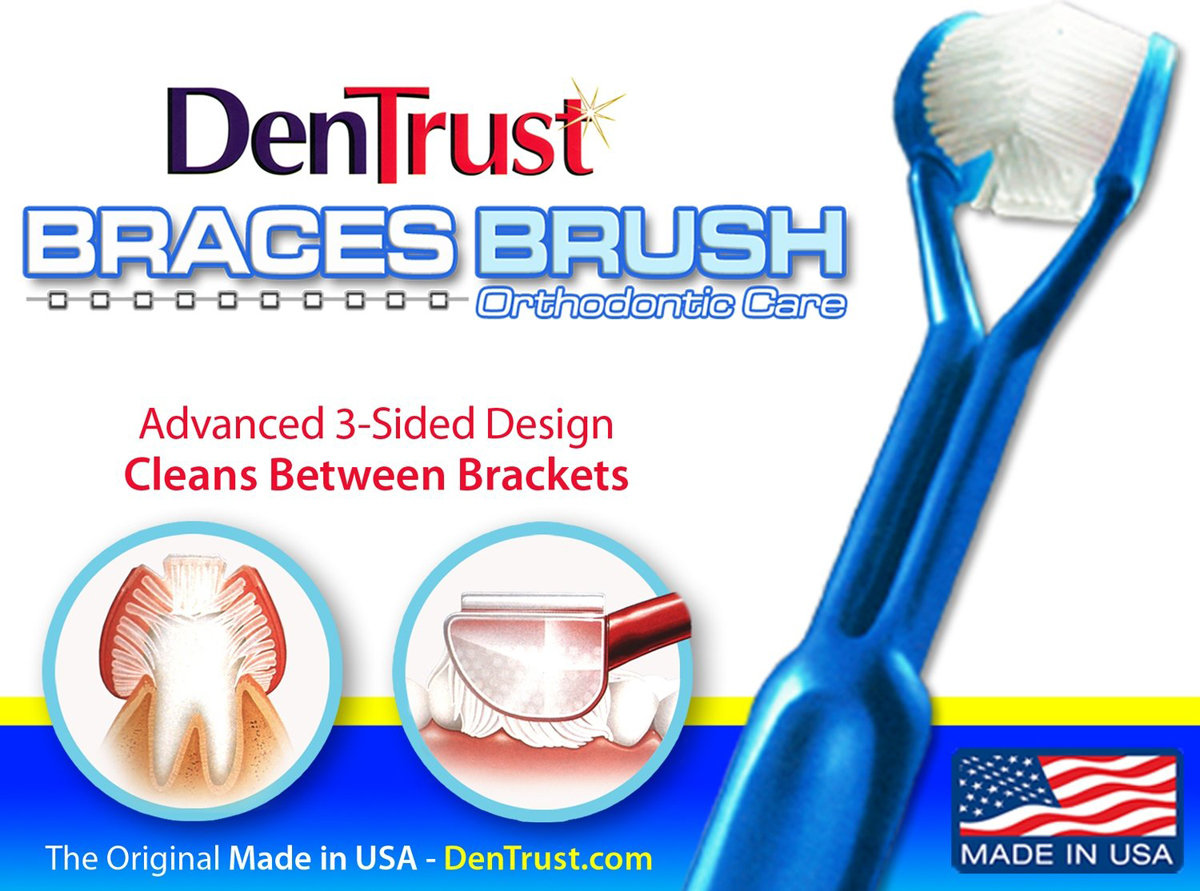 DenTrust 3-Sided Toothbrush :: for Orthodontic /Braces Care DENTRUST-BRACES
