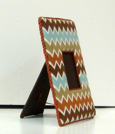 Multi Color Chevron Frame   (handpainted by All About Stitching ??)