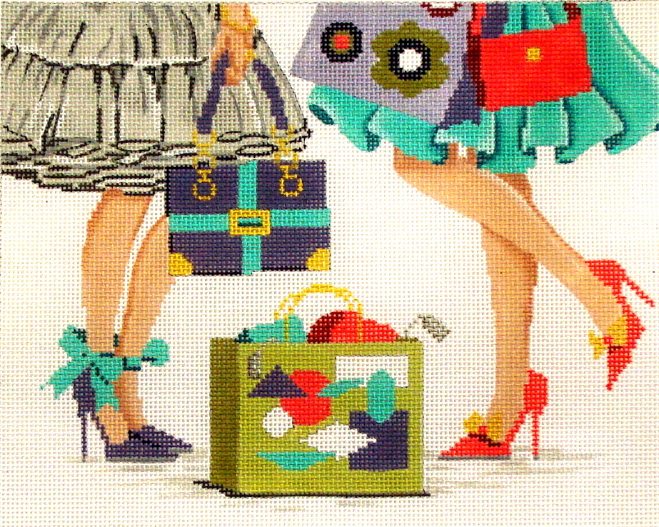 """""""Let's Do Lunch""""    (handpainted Needlepoint Canvas from Alice Peterson) 19*4062"""