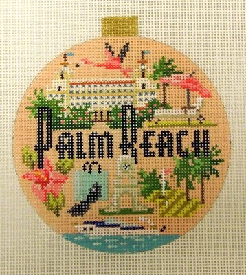 Palm Beach Ornament    handpainted from Kirk and Bradley