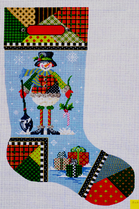 Patchwork Pete Stocking (Handpainted by Kelly Clark Designs) 18*1618