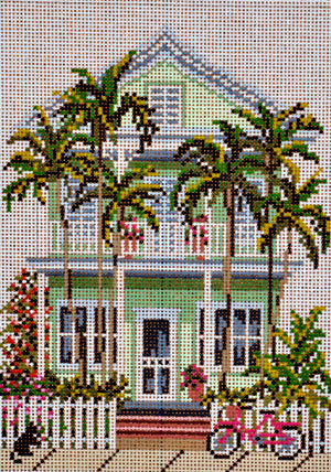 Island House     (handpainted by Needle Crossing) 18*831