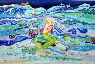 Enchanted Mermaid's Dream (Handpainted by Dede Designs) 18*ED-18050
