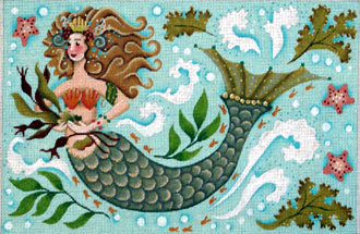 Mermaid     (handpainted by Melissa Shirley) 18*806A