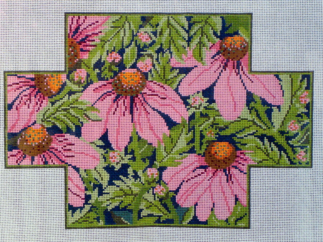 Pink Echinacea Brick Cover (Handpainted by Whimsy & Grace) 18*WG12034B