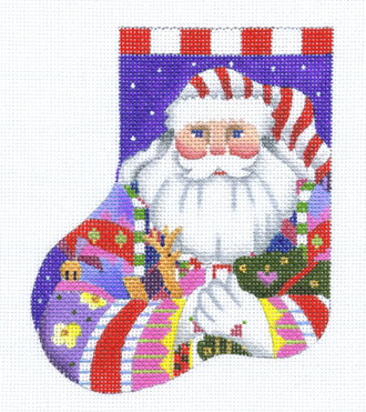 Nordic Santa Minisock   (handpainted by Melissa Shirley) 18*391-P