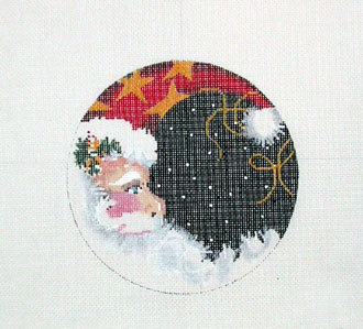 Santa Moon Round  (Handpainted by Associated Talents) 18*138A