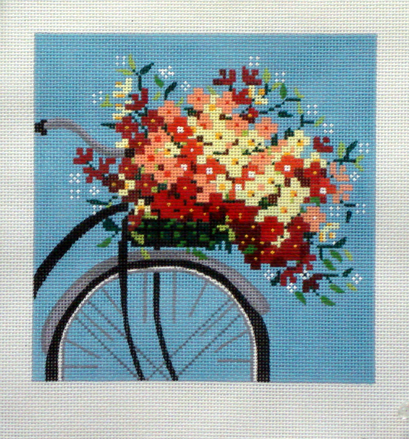 Bicycle on Blue    (Handpainted by Alice Peterson Company) 18*2460