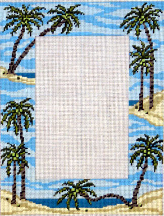 Palm Tree Picture Frame    (Needle Crossing) *5017