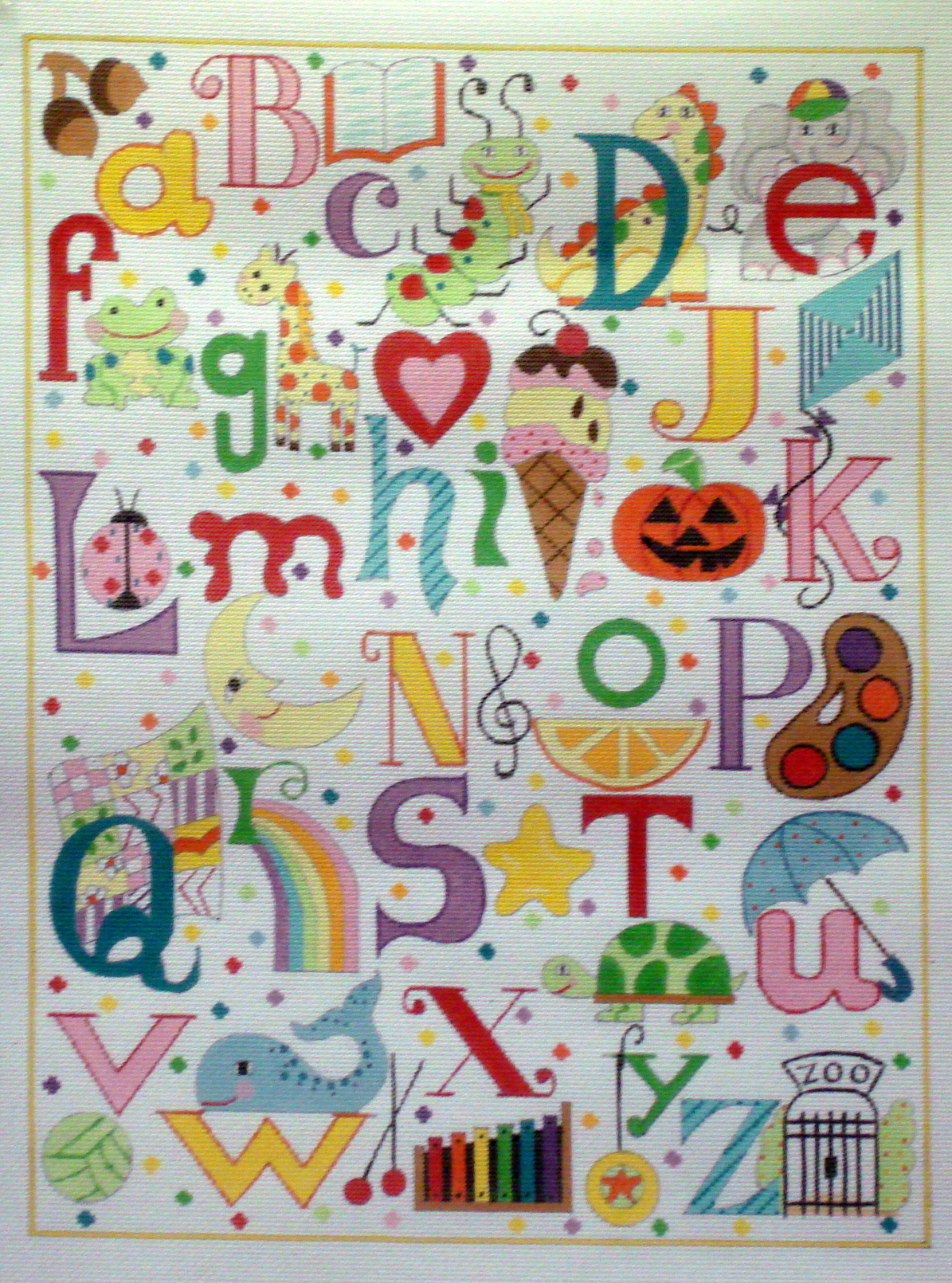 Multi Colored Alphabet (Handpainted by Alice Peterson Company) 18*3061
