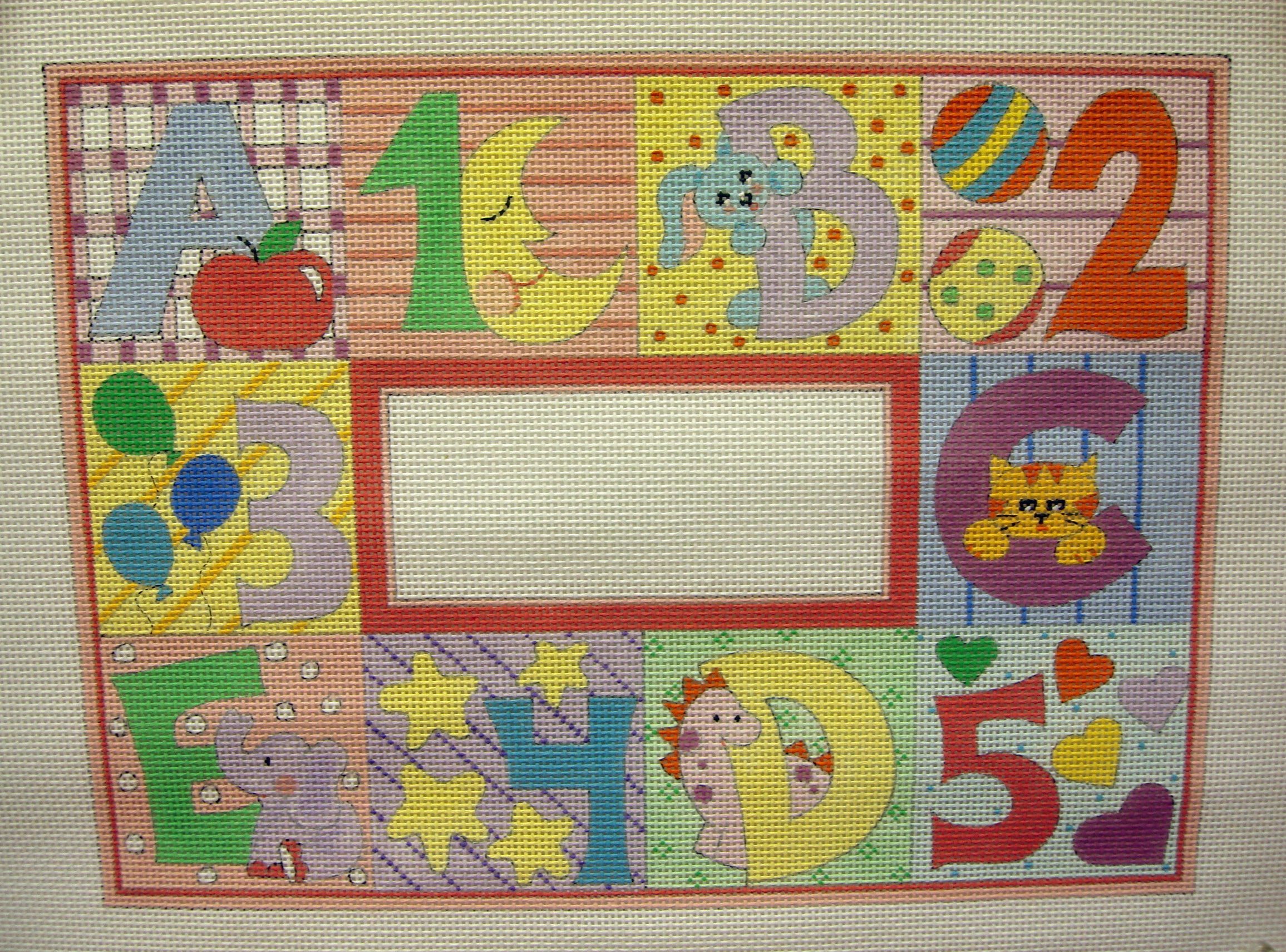 Pastel ABC & 123  ( Handpainted by Alice Peterson Company) 18*3503