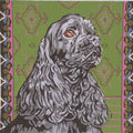 Black Cocker Spaniel      (Handpainted by Barbara Russell Designs)