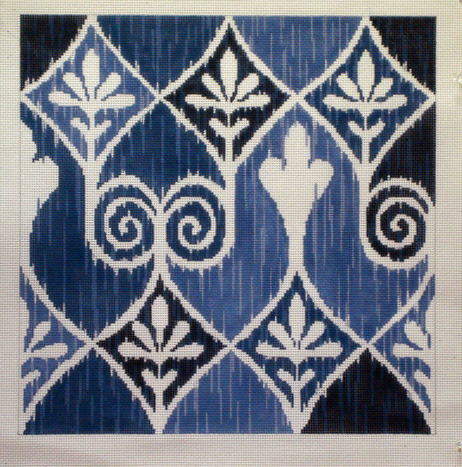Ikat-Irina in Blues   (Julie Mar & Friends Designs) SC-231B