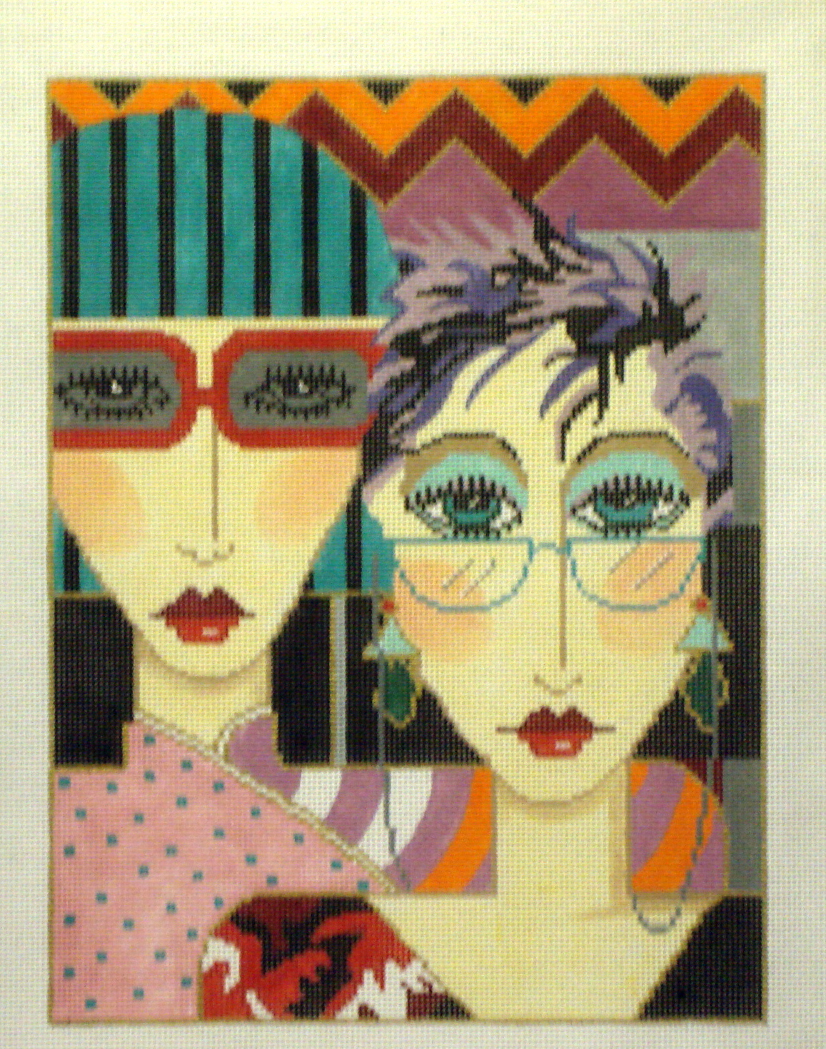 Glasses   (Handpainted by Barbara Russell Designs) 19*BRC-14