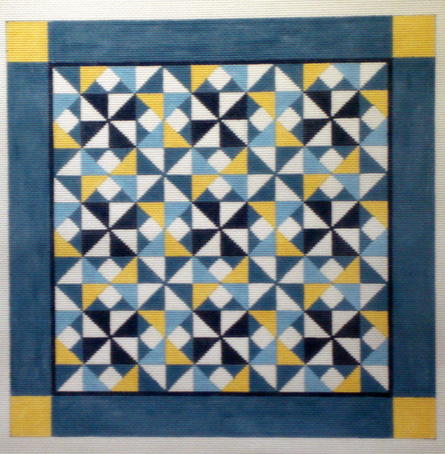Diamond Pinwheel Quilt   (handpainted by Susan Roberts) 18*1446