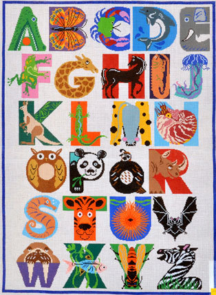 Animal Alphabet Rug/Wall Hanging    (Treglown Designs) *B296