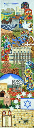 Israel Wall Hanging (Handpainted by Trubey Designs) 18*BP010