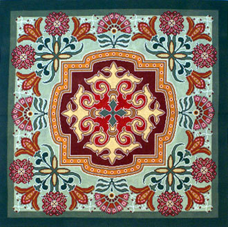 Singleton Rug (Handpainted by Canvasworks Traditions) 18*PO109