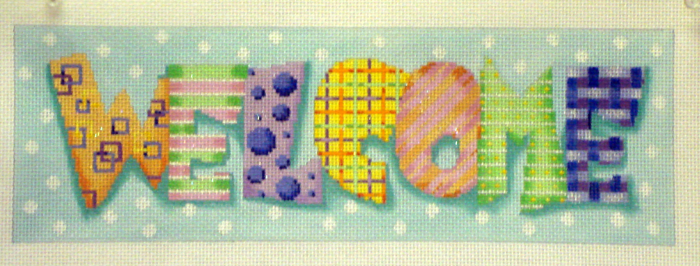 """Welcome"" Pattern Letters (Handpainted by Associated Talents) 18*M-199"