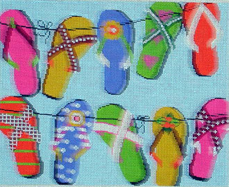 Sandals (Handpainted by Lee's Needle Arts)