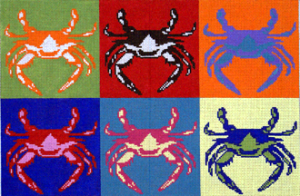 Pop Art Crabs (Handpainted by The Point Of It All Designs) 18*P292