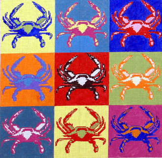 Pop-Art Crab (Handpainted by The Point Of It All) 18*P252