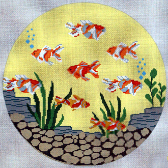 Round Fish (Handpainted by J. Child Designs) 18*PIL238