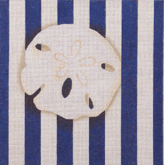 Sand Dollar Square Stripe    (handpainted from Associated Talents) 18*D-0711