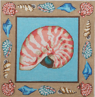Nautilus Shell Pillow (Handpainted by Gayla Elliott Designs) 18*GE-P153