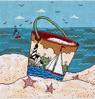 Sailing by the Sea  (Handpainted from Cooper Oaks) 18*WK2001