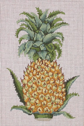 Pineapple     (handpainted by All About Stitching) 18*P129