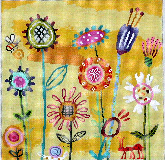 Amy's Yellow Garden (Handpainted by Birds of a Feather) 18*AS-401