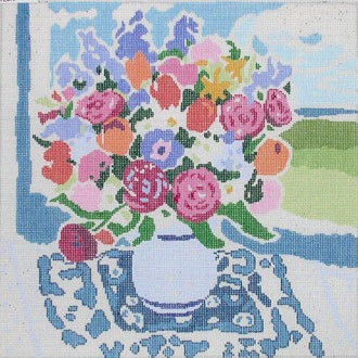 Matisse's Table V   (handpainted by Jean Smith) 18*123-E