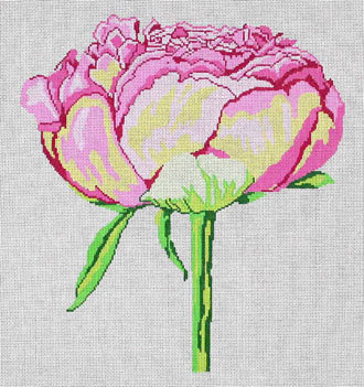 Regal Peony   (handpainted by Jean Smith) 18*15A