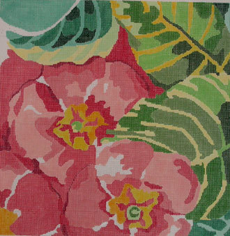 Painters Primrose     (handpainted by Jean Smith) 18*75-A