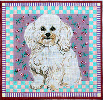 Bichon Frise  ( Handpainted by Barbara Russell Designs) 18*BR87
