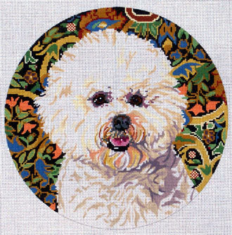 Bichon Frise 2        (Handpainted by Barbara Russell Designs) 18*BR227