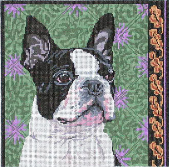 Boston Terrier       (Handpainted by Barbara Russell Designs) 18*BR278