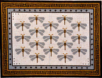 Dragonflies for You    (Handpainted by JP Needlepoint) 18*B-279