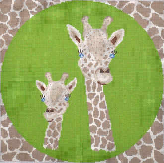 Giraffe Pillow (Handpainted by J. Child Design) 18*PIL242
