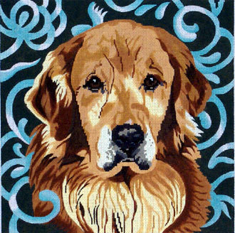 Golden Retriever    (Handpainted by Barbara Russell Designs) 18*BR169