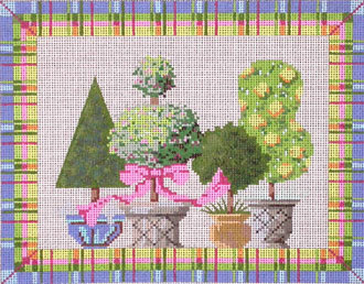 Springtime, includes stitch guide   (Handpainted by Kelly Clark Designs)