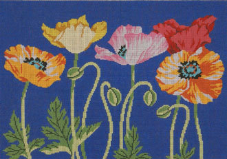 Poppies (Handpainted by Lee's Needleparts) 18*WH1268