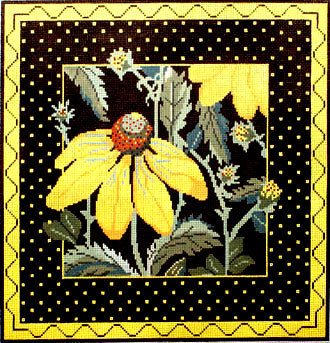 Yellow Echinacea (handpainted by Whimsy & Grace Designs) 18*WG-12033-13