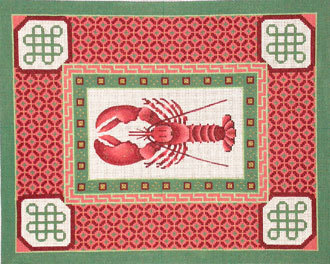 Lobster with Spicy Border     (Handpainted by JP Needlepoint Designs) 18*S-150
