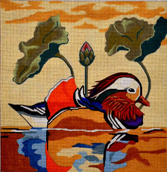 Mandarin Duck (Handpainted by Melissa Prince Designs) 18*B310