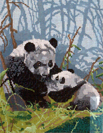 Pandas     (handpainted by Meredith Collection) 18*G-685
