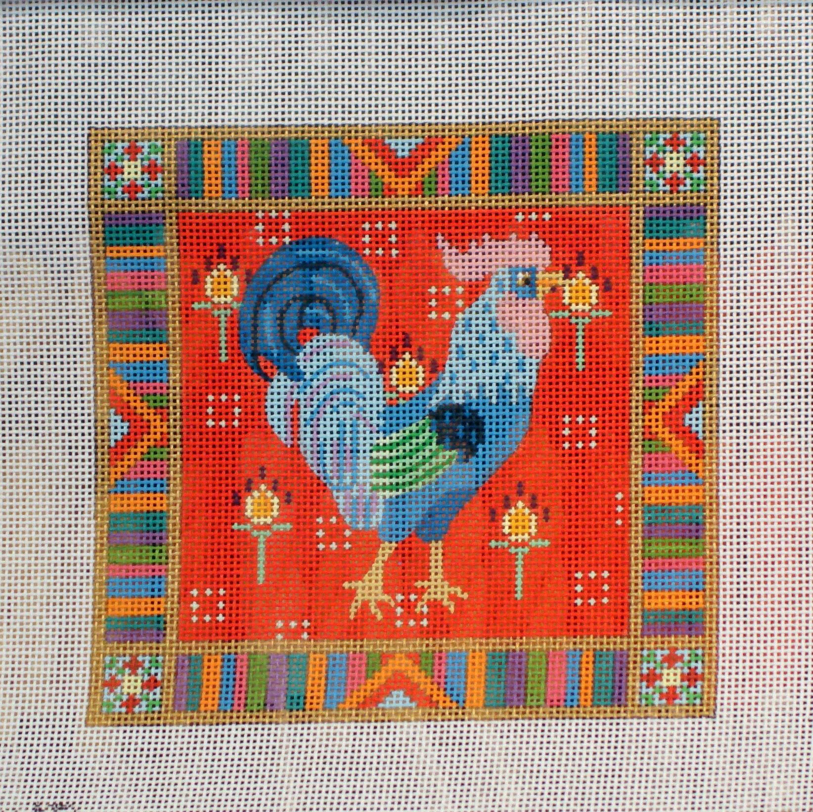 Purpura Los Gallos Locos   (JP Designs) 18*DN-182F