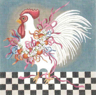 Ribbon Chicken    (handpainted by Melissa Shirley) 18*J-118