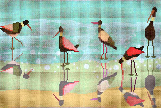 Shorebirds (Handpainted by Birds of a Feather) 18*AS725